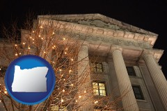 or map icon and the Internal Revenue Service building in Washington, DC