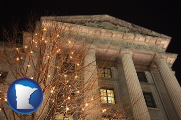 the Internal Revenue Service building in Washington, DC - with Minnesota icon