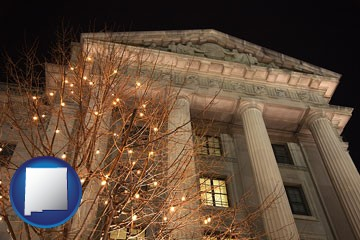 the Internal Revenue Service building in Washington, DC - with New Mexico icon