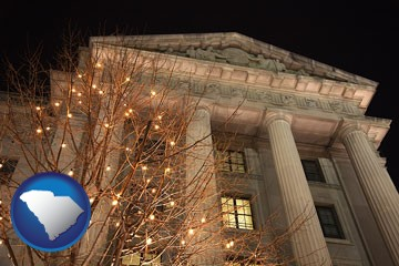 the Internal Revenue Service building in Washington, DC - with South Carolina icon