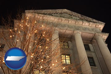 the Internal Revenue Service building in Washington, DC - with Tennessee icon
